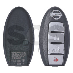 OEM Smart Key for Nissan Pathfinder 2014 Buttons:3+1P / Frequency: 434MHz / Transponder: HITAG3 / PCF7952XTT / Blade signature:NSN14 / Part No: 285E3-3KL8A / (WITHOUT SLOT) ( Automatic Start )