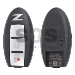 OEM Smart Key for Nissan Z Buttons:2+1 / Frequency:433MHz / Transponder:PCF7952 / Blade signature:NSN14 / Part No: 5WK50196/ 285E3-1ET8A/ 285E3-1ET5A (WITH SLOT)