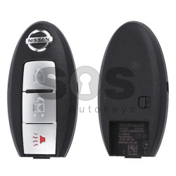 OEM Smart Key for Nissan Buttons:2+1 / Frequency:434MHz / Transponder: PCF7952/ HITAG2  / Blade signature:NSN14 / Manufacture: Mitsubishi Electric (Without Slot)