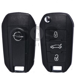 OEM Flip Key for Opel Buttons:3 / Frequency:433MHz / Transponder:HITAG 128-Bit AES / Blade signature:HU83 / Immobiliser System:BCM