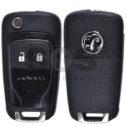 OEM Flip Key for Vauxhall Adam Buttons:2 / Frequency:433MHz / Transponder: HITAG2/ ID46 / Blade signature:HU100 / Immobiliser System:BCM / Part No: GM13384022 (Black)