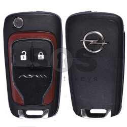 OEM Flip Key for Opel Adam Buttons:2 / Frequency:433MHz / Transponder: HITAG2 / Blade signature:HU100 / Immobiliser System:BCM / Part No: 5WK50079 (Red)