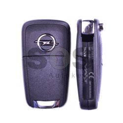 OEM Flip Key for Opel Astra J Buttons:3 / Frequency:433MHz  / Transponder:Type E (Crypto Mode) / Blade signature:HU100 / Immobiliser System:BCM / Part No: GM13584834 / Keyless GO