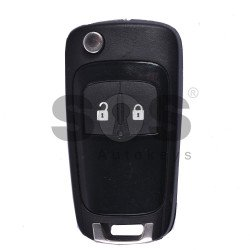 OEM Flip Key for Vauxhall Buttons:2 / Frequency:433MHz / Transponder:HITAG2/ ID46/ PCF7946 / Blade signature:HU100 / Immobiliser System:BCM (Black)