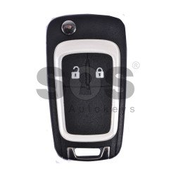 OEM Flip Key for Opel Buttons:2 / Frequency:433MHz / Transponder:HITAG 2 / Blade signature:HU100 / Immobiliser System:BCM (White)
