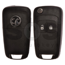 Flip Key for Vauxhall  Astra J/Insignia Buttons:2 / Frequency: 433MHz / Transponder: PCF7937/ HITAG2/ID46 / Blade signature: HU100 / Immobiliser System: BCM / Part No: GM13271926