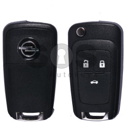 Flip Key for Opel Astra J/Insignia Buttons:3 / Frequency:433MHz / Transponder: PCF7937/ HITAG2/ ID46 / Blade signature:HU100 / Immobiliser System:BCM / Part No:CM 13500226