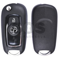 OEM Flip key for Vauxhall Buttons:2 Shining Black Frequency 433 MHz Transponder Type E Part No:13588685 Keyless Go