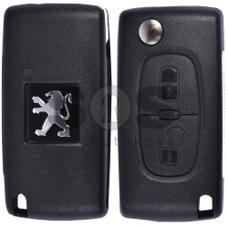 OEM Flip Key for Peugeot 307 Buttons:2 / Frequency:433MHz / Transponder: PCF7961/ HITAG2/ ID46 / Blade signature:VA2 / Immobiliser System:BCM / Part No: 1700204BJ41