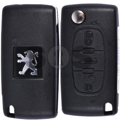 OEM  Flip Key for Peugeot 307/308/408 Buttons:3 / Frequency:433MHz / Transponder: PCF7961/ HITAG2/ ID46 / Blade signature:VA2 / Immobiliser System:BCM / Part No: 1700204BJ43