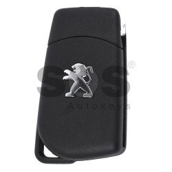 OEM Flip Key for Peugeot 108 Buttons:2 / Frequency:433MHz / Transponder:Tiris DST AES / Blade signature:HY22/VA2 / Immobiliser System:BCM / Part No: 1612489380/ 1612489280