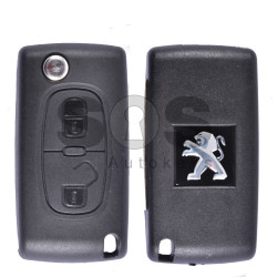 OEM Flip Key for Peugeot 207/307/3008/5008 Buttons:2 / Frequency:433MHz / Transponder: PCF7941 A / Blade signature:VA2 / Immobiliser System:BCM / Part No: 652913