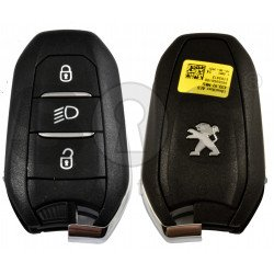 OEM Smart Key for Peugeot Buttons:3 / Frequency:433MHz / Transponder:HITAG AES / Blade signature:VA2/HU83 / Immobiliser System:BCM / Part No: 9836956180 /Keyless Go