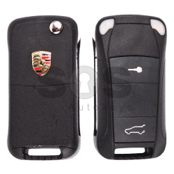Flip Key for Porsche Cayenne Buttons:2 / Frequency:433MHz / Transponder: PCF7946 / Blade signature:HU66 / Immobiliser System:KESSY