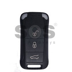 OEM Flip Key for Porsche Cayenne Buttons:3 / Frequency:433MHz / Transponder:PCF7943/ HITAG2/ ID46 / Blade signature:HU66 / Immobiliser System:KESSY