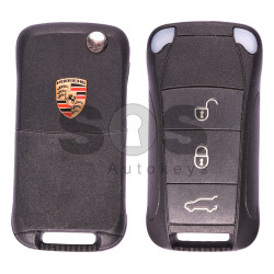 Flip Key for Porsche Cayenne Buttons:3 / Frequency:433MHz / Transponder: PCF7946 / Blade signature:HU66 / Immobiliser System:KESSY