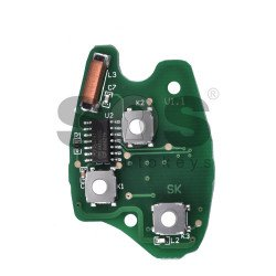 Regular Key for Opel / Vauxhall Buttons:3 / Frequency:433MHz / Transponder: PCF7946/ HITAG2/ ID46 / Blade signature:VA2 / Immobiliser System:Johnson control