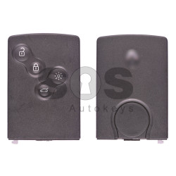 OEM Smart Card Ren Clio 4 Buttons:4 / Frequency: 433MHz / Transponder: PCF7953 / Blade signature:VA2 / Immobiliser System:BCM / Part No: 285971998R / Keyless GO