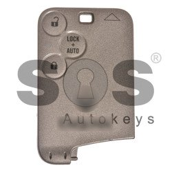 OEM Card Ren Laguna/ Espace Buttons:3 / Frequency:433MHz / Transponder: ID46/ PCF7947 / Blade signature: VA2 / Immobiliser System: BCM / Part No: 7701209129/ 285974219R / Semi-Keyless Go