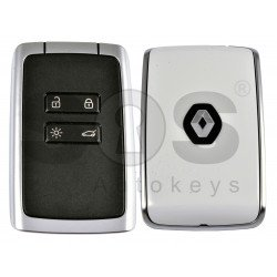 OEM Smart Card Ren Megane 4/ Talisman Buttons:4 / Frequency:433MHz / Transponder:HITAG AES / NCF29A1M/ Blade signature:VA2 / Immobiliser System:BCM / Part. No: 285977147R / Keyless GO