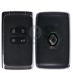 OEM Smart Card for Renault Megane 4/Talisman Buttons:4 Frequency 433 MHz Transponder:AES 128 Locked Keyless GO