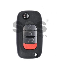 OEM Flip Key for SMART W453 2014+ Buttons:3+1 / Frequency 434MHz / Transponder:PCF 7961M AES / Blade signature:VA2 / Immobiliser System:BCM / (EUROPE/USA)