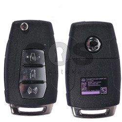 OEM Flip Key for SsangYong Buttons:3 / Frequency:433MHz / Transponder:Tiris DST80 80-Bit (PURPLE)