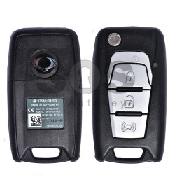 OEM Flip Key for SsangYong Buttons:3 / Frequency:433MHz / Transponder:Tiris DST80 80-Bit (GREEN)