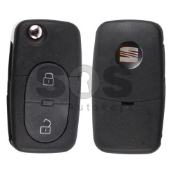 Flip Key for Seat Buttons:2 / Frequency:434MHz / Transponder:ID48/ID48 CAN / Blade signature:HU66 / Immobiliser System: Dashboard / Part No:1J0959753A  (Remote Only)