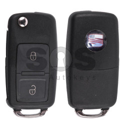 Flip Key for Seat Buttons:2 / Frequency:434MHz / Transponder:ID48/ID48CAN / Blade signature:HU66 / Immobiliser System: Dashboard / Part No: 1J0959753AG (Remote Only)