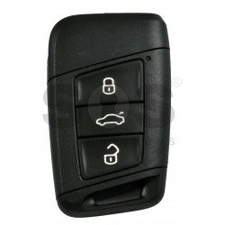 OEM Smart Key for Seat  Buttons:3/ Frequency:434MHz / Transponder:NCP21A2W / Blade signature:HU162T / Immobiliser System:MQB / Part No: 575 959 752 BC/ Keyless GO