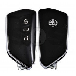 OEM Smart Key for Skoda 2020+ Buttons:3 / Frequency:434MHz / Transponder:NCF29A1 / Blade signature:HU162T  / Part No: 5DD 959 753B/ Keyless GO