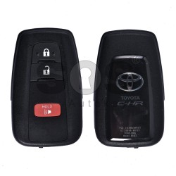 OEM Smart Key for Toyota C-HR (USA) Buttons:2+1 / Frequency:315 MHz / Transponder:Texas Crypto/128-bit AES / First Page:A9 / Model: BR1ET / Blade signature:TOY-94 / Immobiliser system:Smart System / Keyless Go