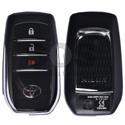 OEM Smart Key for Toyota HILUX 2017+ Buttons:2+1 / Frequency:433 MHz / Transponder:Texas Crypto 128-bit AES/RF430 / First Page: 39 / Model:BM1EW / Blade signature:TOY-94 / Immobiliser system:Smart System / Keyless Go