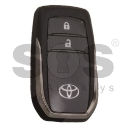OEM Smart Key for Toyota HILUX / INNOVA Buttons:2 / Frequency:433 MHz / Transponder: Texas Crypto 128-bit AES/RS430 / First Page:39 / Model:BM1EW / Blade Signature:TOY-94 / Immobiliser System:Smart System / Part. No.: 89904-0K350 / Keyless Go