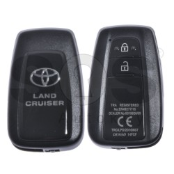 OEM Smart Key for Toyota Land Cruiser 2017+ Buttons:2 / Frequency:433 MHz / Transponder:Texas Crypto/128-bit AES / First Page:A8 / Model:ER49277/16 / Blade signature:TOY-94 / Immobiliser system:Smart Module / Part.No:89904-60L70