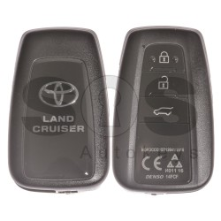 OEM Smart Key for Toyota Land Cruiser Buttons:3 / Frequency: 433MHz / Transponder:Texas Crypto/ 128-Bit AES / First Page:A8 / Model: MR12641/2016 / Blade signature:TOY-94 / Part.No:89904-60L60