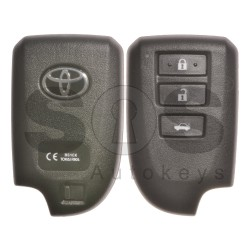 OEM Smart Key for Toyota Buttons:3 / Frequency: 434MHz / Transponder: Texas Crypto/ 128-bit/ AES / First Page: 39 / Model: BS1EK / Blade signature: VA2 / Keyless GO