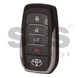 OEM Smart Key for Toyota Fortuner Buttons:3+1 / Frequency: 434MHz / Transponder: Texas Crypto 128-bit AES / First Page: A39 / Model: BM1EW / Blade Signature: TOY-48 / Keyless Go