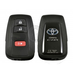 OEM Smart Key for Toyota C-HR Buttons:2+1 / Frequency:433 MHz / Transponder:Texas Crypto/128-bit AES / First Page:A9 / Model: BR2EX / Blade signature:TOY-94 / Immobiliser system:Smart System / Keyless Go
