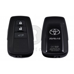 OEM Smart Key for Toyota RAV4 Buttons:3 / Frequency:433 MHz / Transponder:Texas Crypto/128-bit AES / First Page:AA  / Blade signature:TOY-94 / Immobiliser system:Smart Module / Part.No:8990H-42190