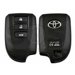 OEM Smart Key for Toyota Yaris Buttons:2 / Frequency: 434MHz / Transponder: PCF RF430 / First Page: 8A / Model: BS1EW / Blade signature: VA2 / Keyless GO