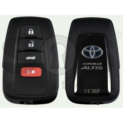 OEM Smart Key for Toyota Corolla Altis Hybrid Buttons:3+1P / Frequency:434 MHz / Transponder: NCF 29A1M / First Page:AA / Model B2U2K2R / Blade signature:TOY-94 / Immobilser system:Smart System / Keyless Go