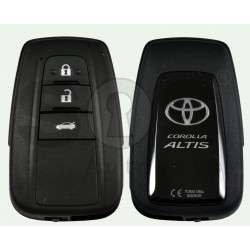 OEM Smart Key for Toyota Corolla Altis Buttons:3 / Frequency:434 MHz / Transponder: NCF 29A1M / First Page:AA / Model B2U2K2R / Blade signature:TOY-94 / Immobilser system:Smart System / Keyless Go