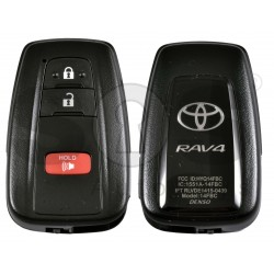 OEM Smart Key for Toyota Rav4  2021+ Buttons:2+1P / Frequency:315 MHz / Transponder: Tiris RF430 / First Page:8A / Part No :  8990H-0R010 / Keyless Go