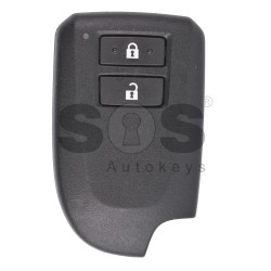 OEM Smart Key for Toyota Aygo Buttons:2 / Frequency:434 MHz / Transponder:Tiris DST AES / First Page:39 / Blade signature:VA2 / Immobiliser System:Smart System / Part No:89904-52491/ Keyless GO