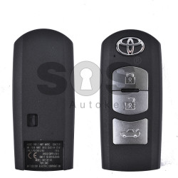 OEM Smart Key for Toyota Buttons:3 / Frequency:433 MHz / Transponder:HITAG PRO/PCF 7953 / First Page:32 / Mitsubishi Electronics / Blade Signature:MAZ-24R/MAZ-14 / Immobiliser System:Smart Module / Keyless Go