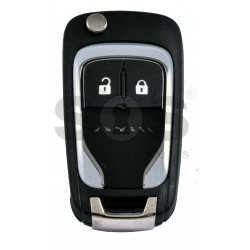 OEM Flip Key for Vauxhall  Adam Light Buttons:2 / Frequency: 433MHz / Transponder: PCF7937/ HITAG2/ID46 / Blade signature: HU100 / Immobiliser System: BCM / Part No: 13401810 VALEO