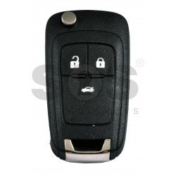 OEM Flip Key for Vauxhall Buttons:3 / Frequency: 433MHz / Transponder: PCF7937/ HITAG2/ID46 / Blade signature: HU100 / Immobiliser System: BCM / Part No: 13308185