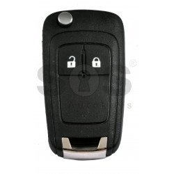 OEM Flip Key for Vauxhall Buttons:2 / Frequency: 433MHz / Transponder: PCF7937/ HITAG2/ID46 / Blade signature: HU100 / Immobiliser System: BCM / Part No: 13308185